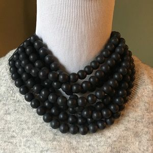 New Fairchild Baldwin Matte Black Bella Necklace